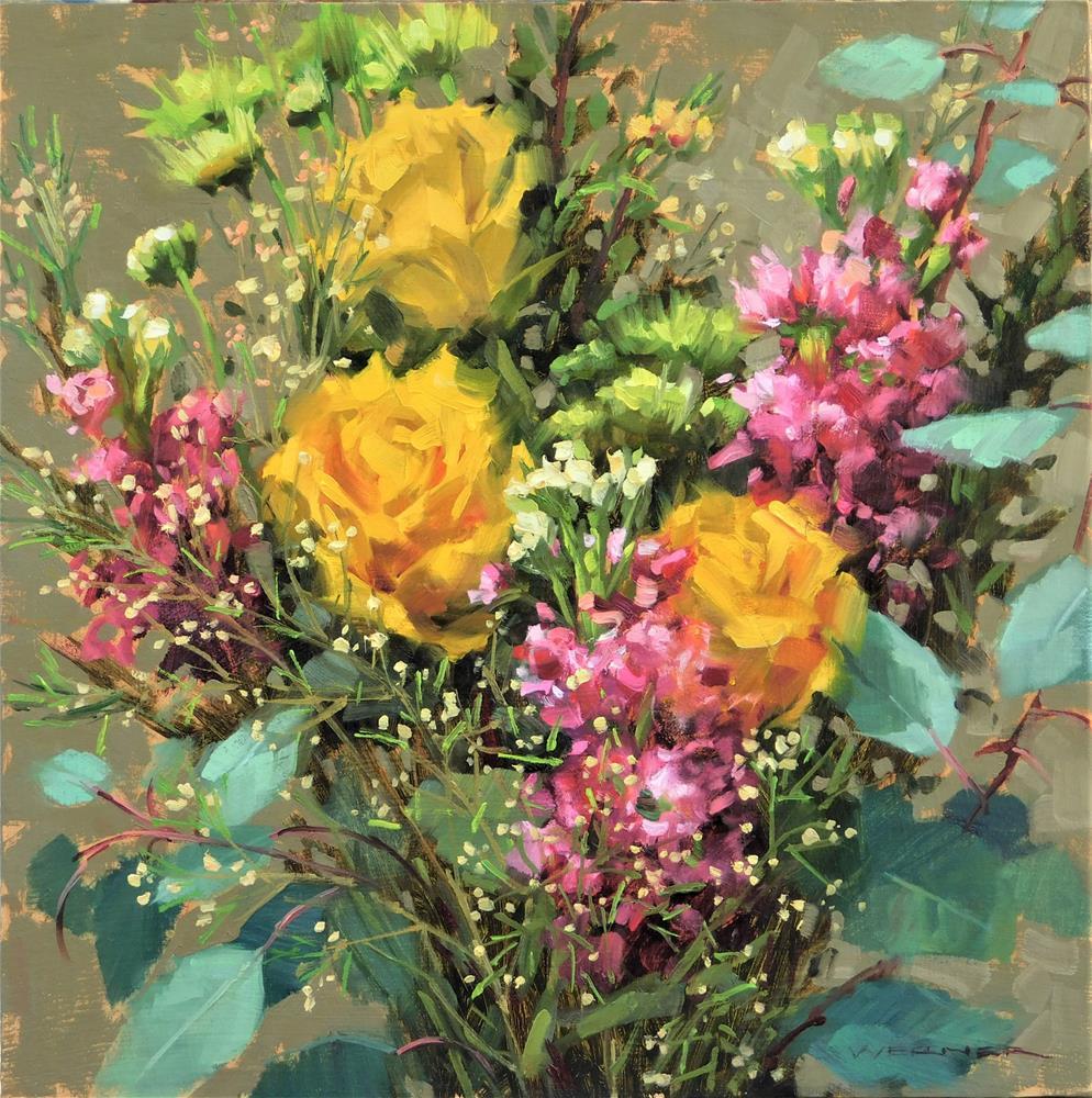 """""""Valentine Bouquet"""" original fine art by Karen Werner"""