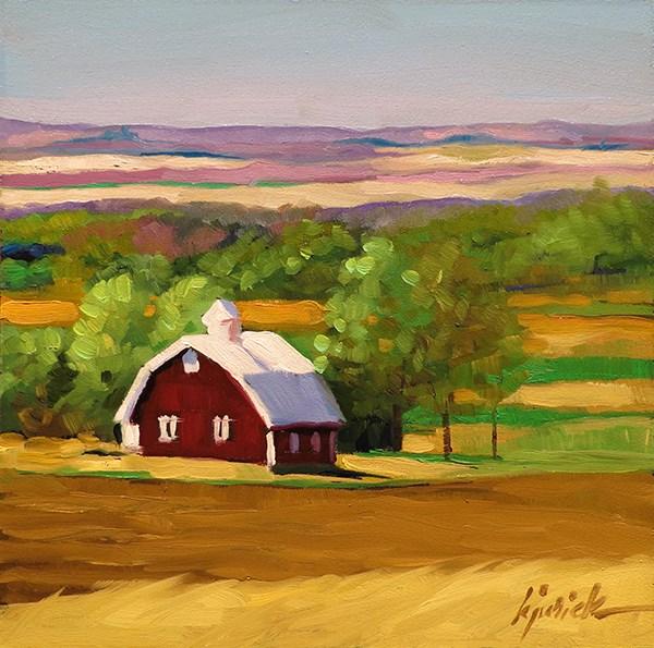 """Lincoln Highway, Northeast Colorado"" original fine art by Karin Jurick"