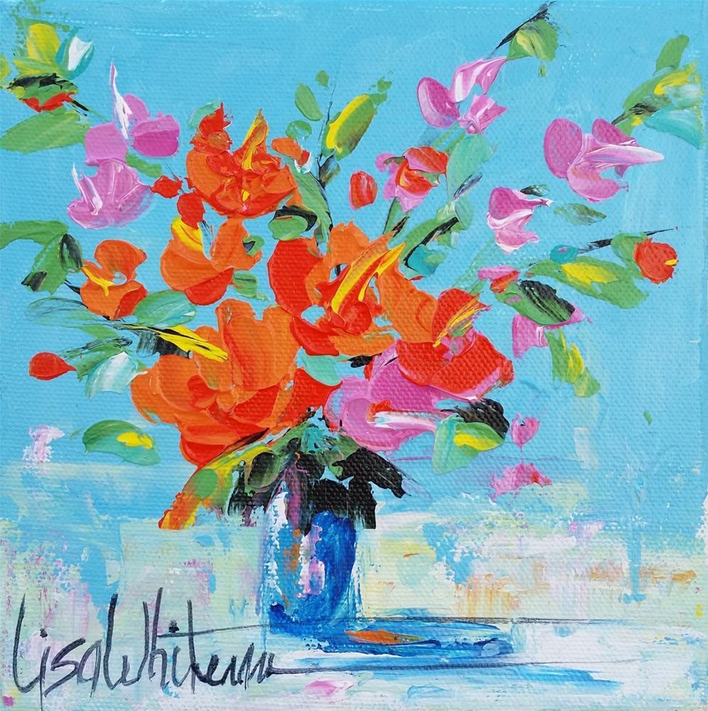 """89 - Happy Birthday"" original fine art by Lisa Rogers"