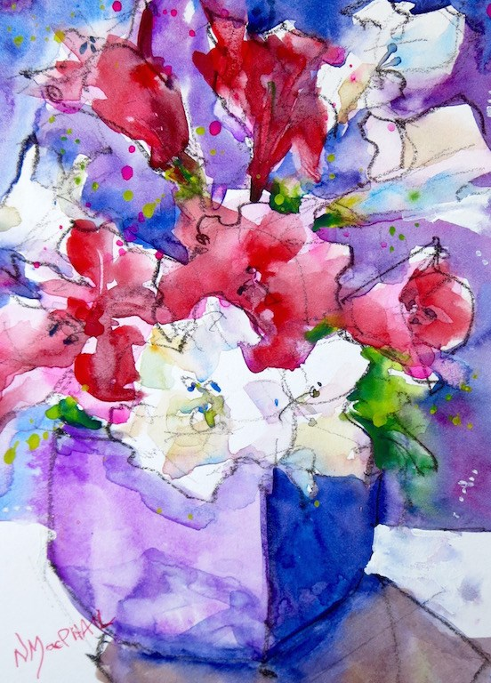 """burst"" original fine art by Nora MacPhail"