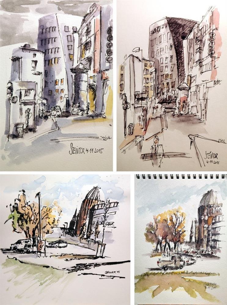 """""""1544 Sunday Sketches 12"""" original fine art by Dietmar Stiller"""