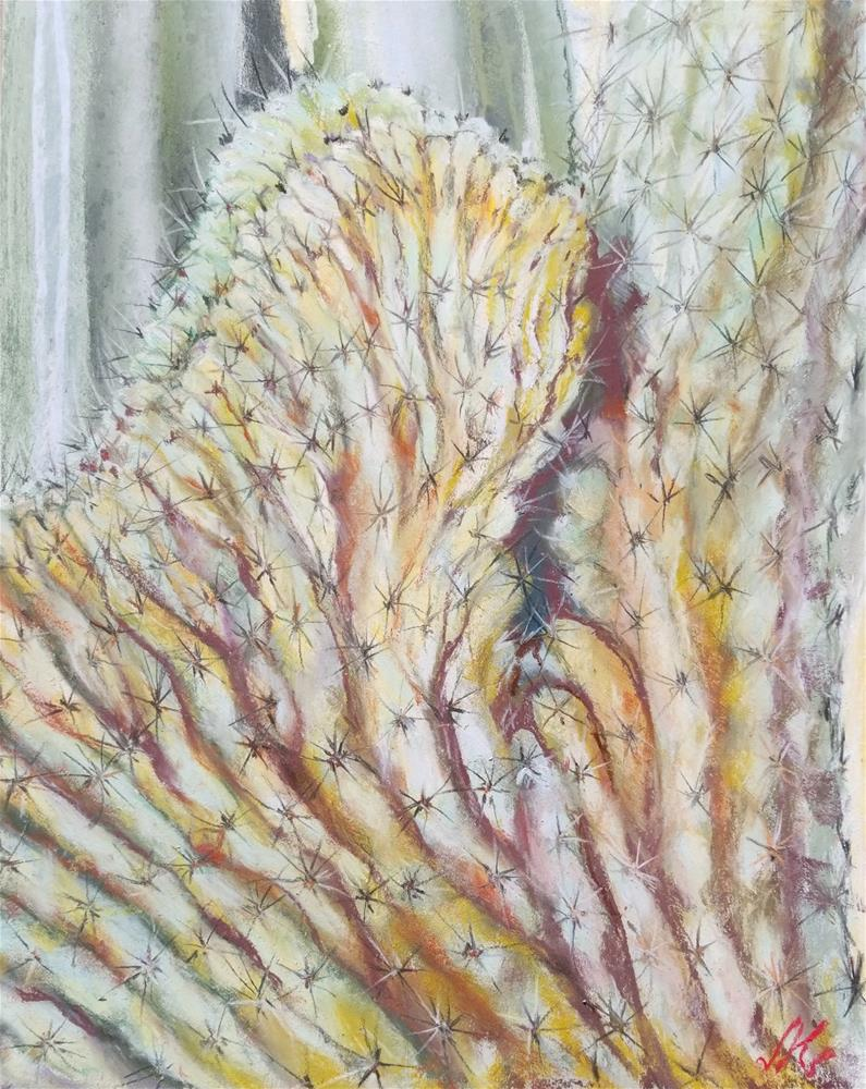 """Crested Saguaro"" original fine art by Jean Krueger"