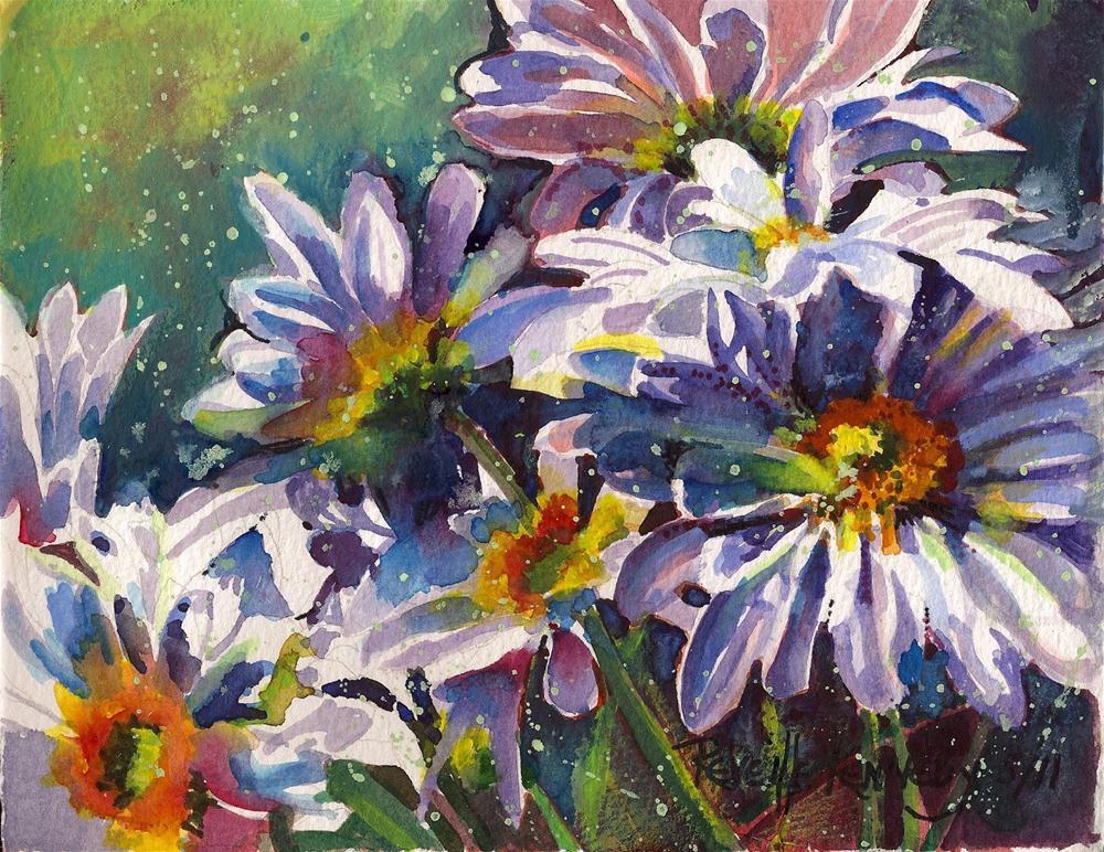"""Sprinkled Daisies"" original fine art by Reveille Kennedy"