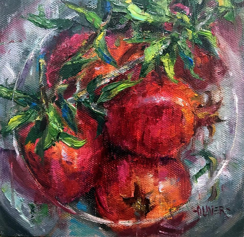 """Poms From A Friend."" original fine art by Julie Ford Oliver"