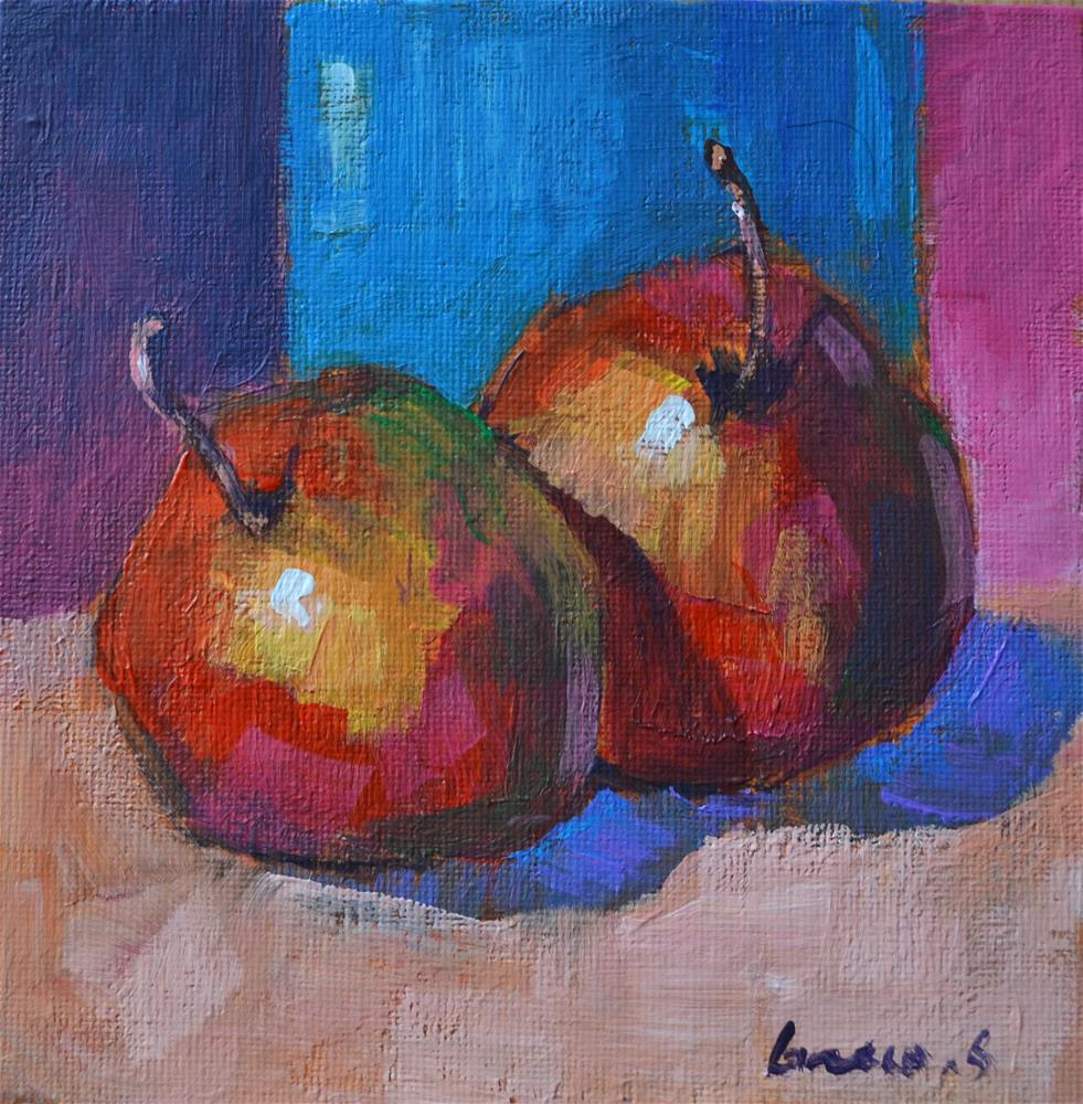 """Apples"" original fine art by salvatore greco"