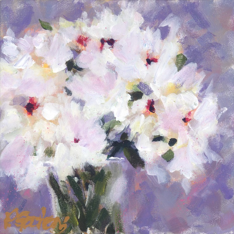"""White Peonies"" original fine art by Pamela Gatens"