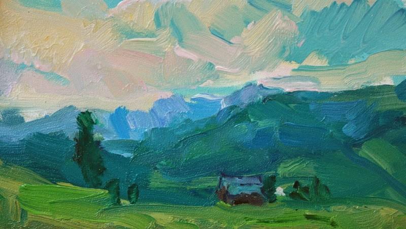 """Mazama Hillside"" original fine art by Kathryn Townsend"