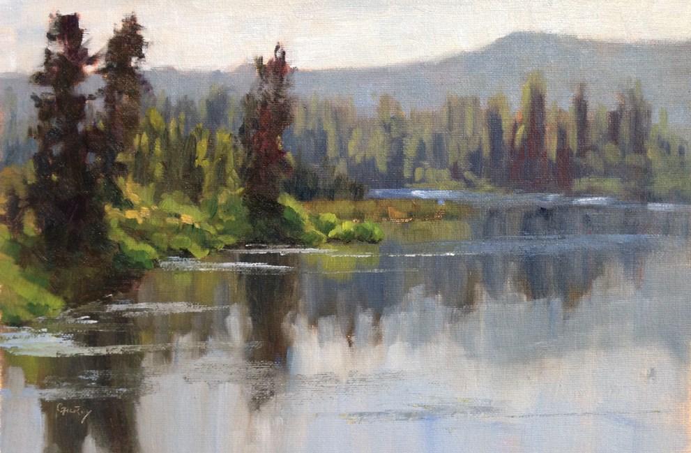 """Morten Slough"" original fine art by denise gilroy"