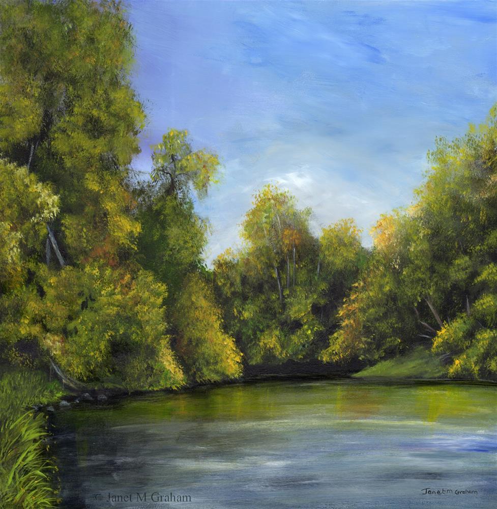 """Spring River 2"" original fine art by Janet Graham"