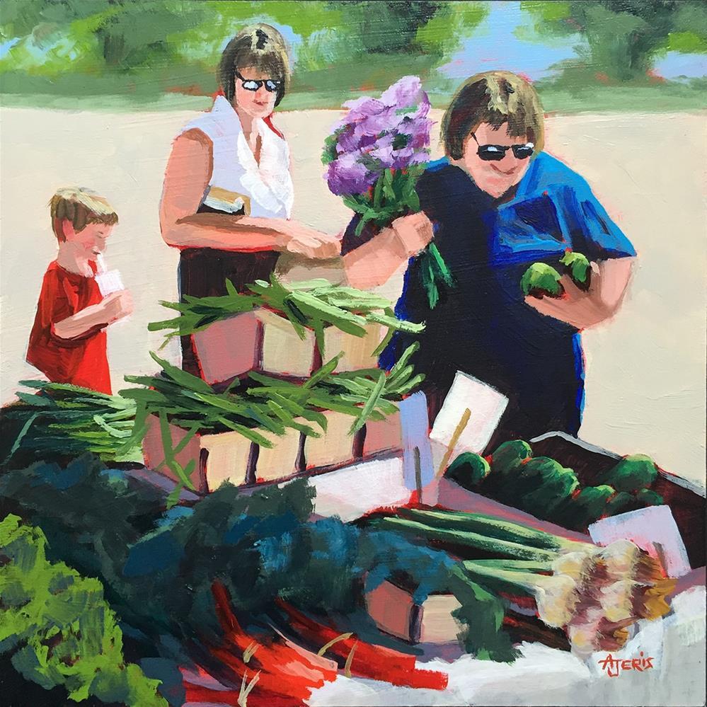 """Green Beans"" original fine art by Andrea Jeris"