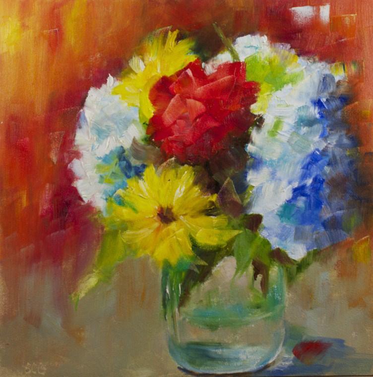 """Early Summer Flowers"" original fine art by Sue Churchgrant"