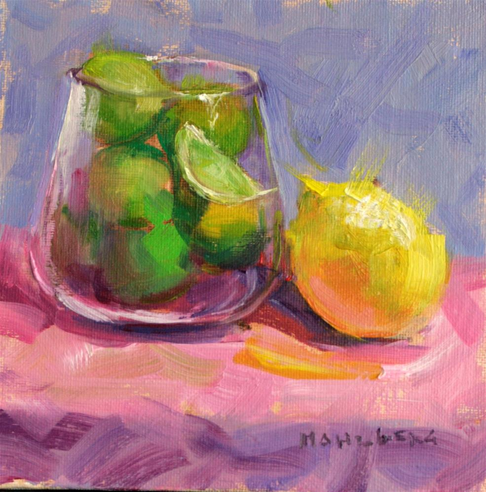 """""""Lemon Kiss"""" original fine art by Cynthia Mahlberg"""