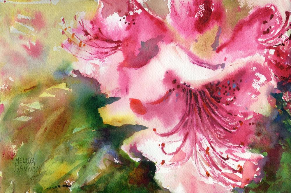 """""""Spring Rhododendron"""" original fine art by Melissa Gannon"""