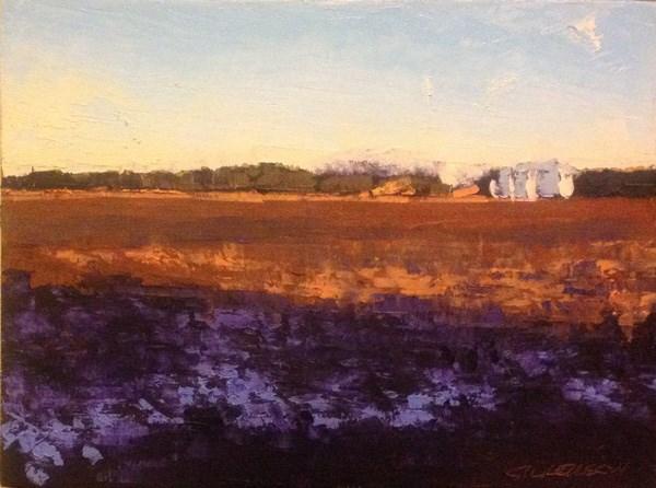 """Purple Shadow"" original fine art by Mary Gilkerson"