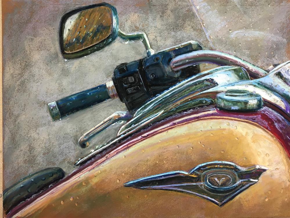 """Rider in the Rain"" original fine art by karen israel"