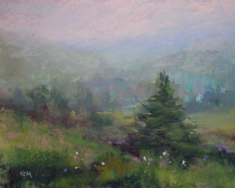"""Smoky Mountains... Not Far From Home"" original fine art by Karen Margulis"