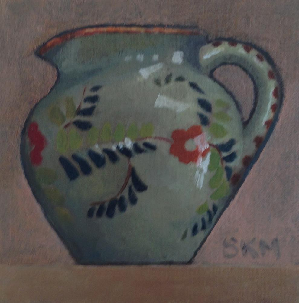 """small pitcher, small painting"" original fine art by Sarah Meredith"