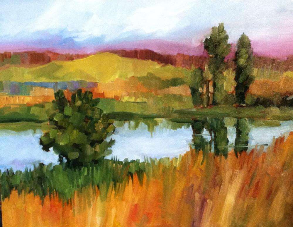 """""""Let the River Run"""" original fine art by Libby Anderson"""