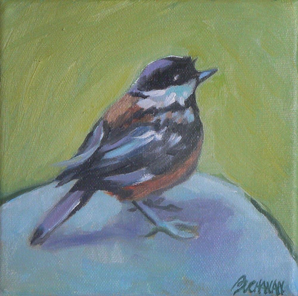"""""""Birdie"""" original fine art by Leigh Buchanan"""