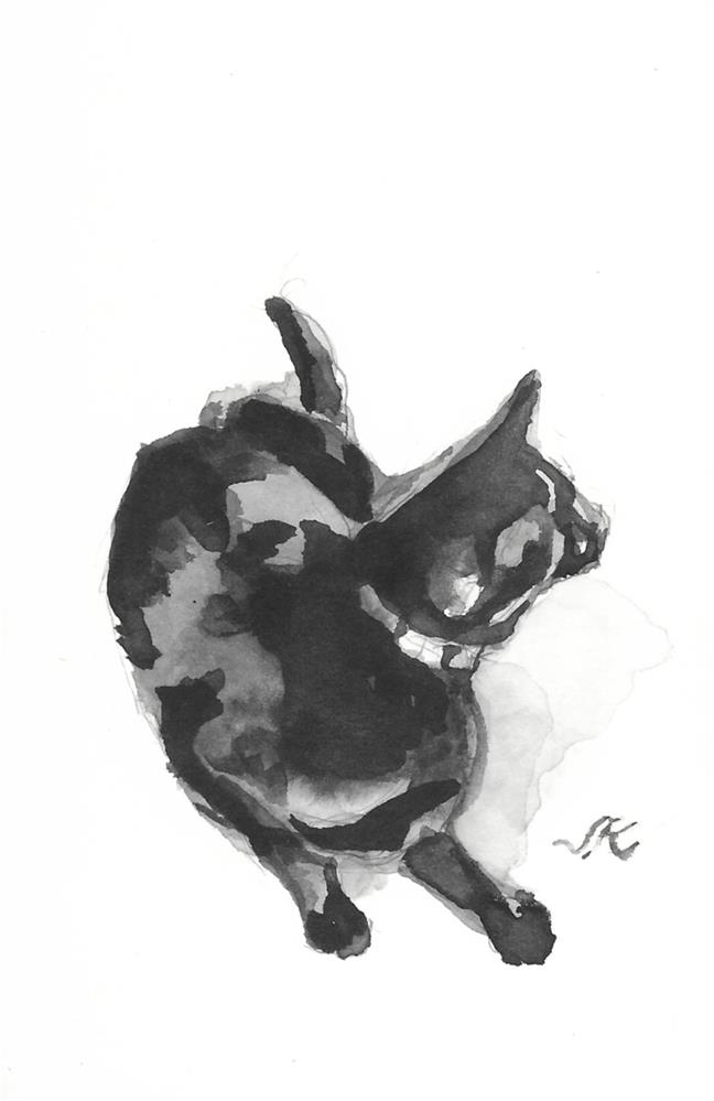 """Daily Cat 188"" original fine art by Jean Krueger"