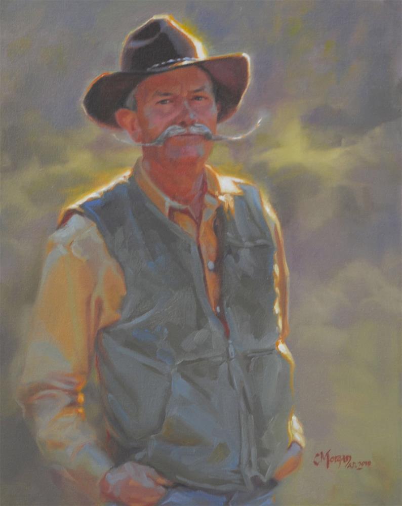 """""""Buckaroo"""" original fine art by Cecile W. Morgan"""