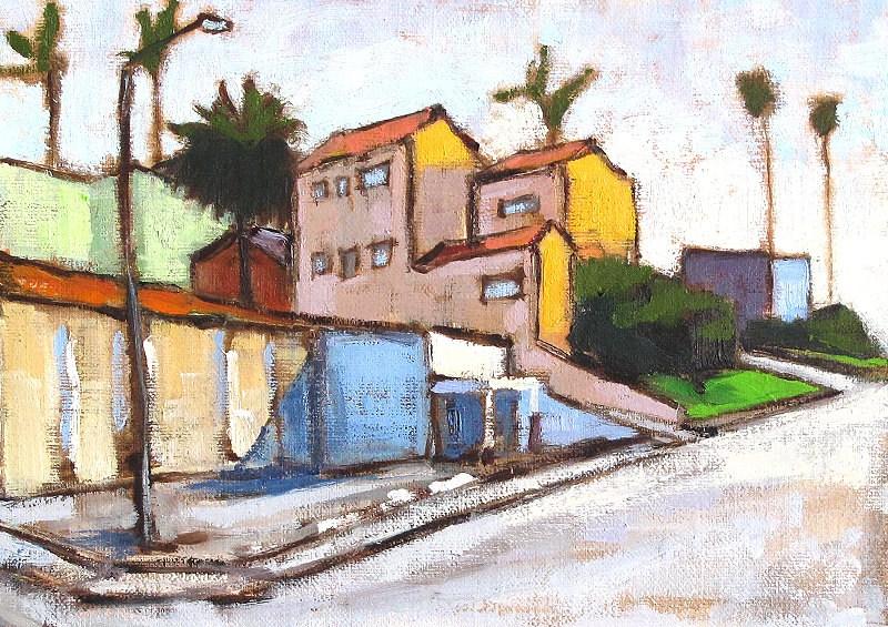 """Hillcrest, San Diego Plein Air"" original fine art by Kevin Inman"