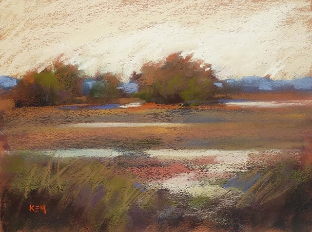 """New Demo Release...A Simple Landscape"" original fine art by Karen Margulis"