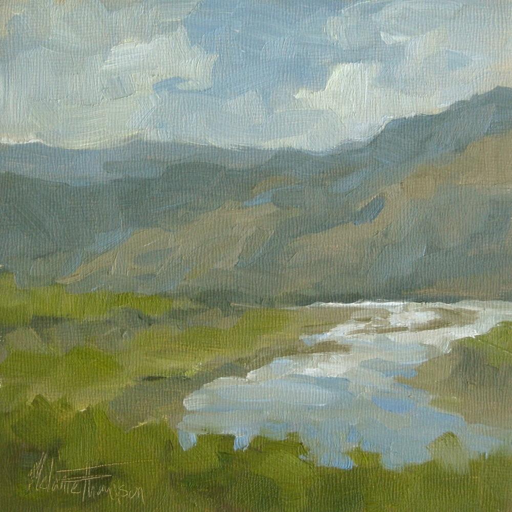 """Thompson River View I"" original fine art by Melanie Thompson"