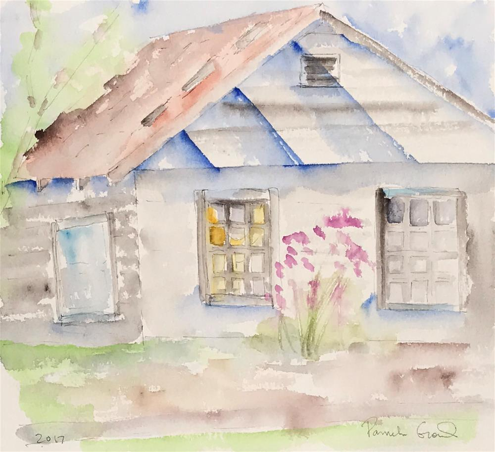 """Abandoned Barn in Texas in Early Spring"" original fine art by Pamela Gorecki"