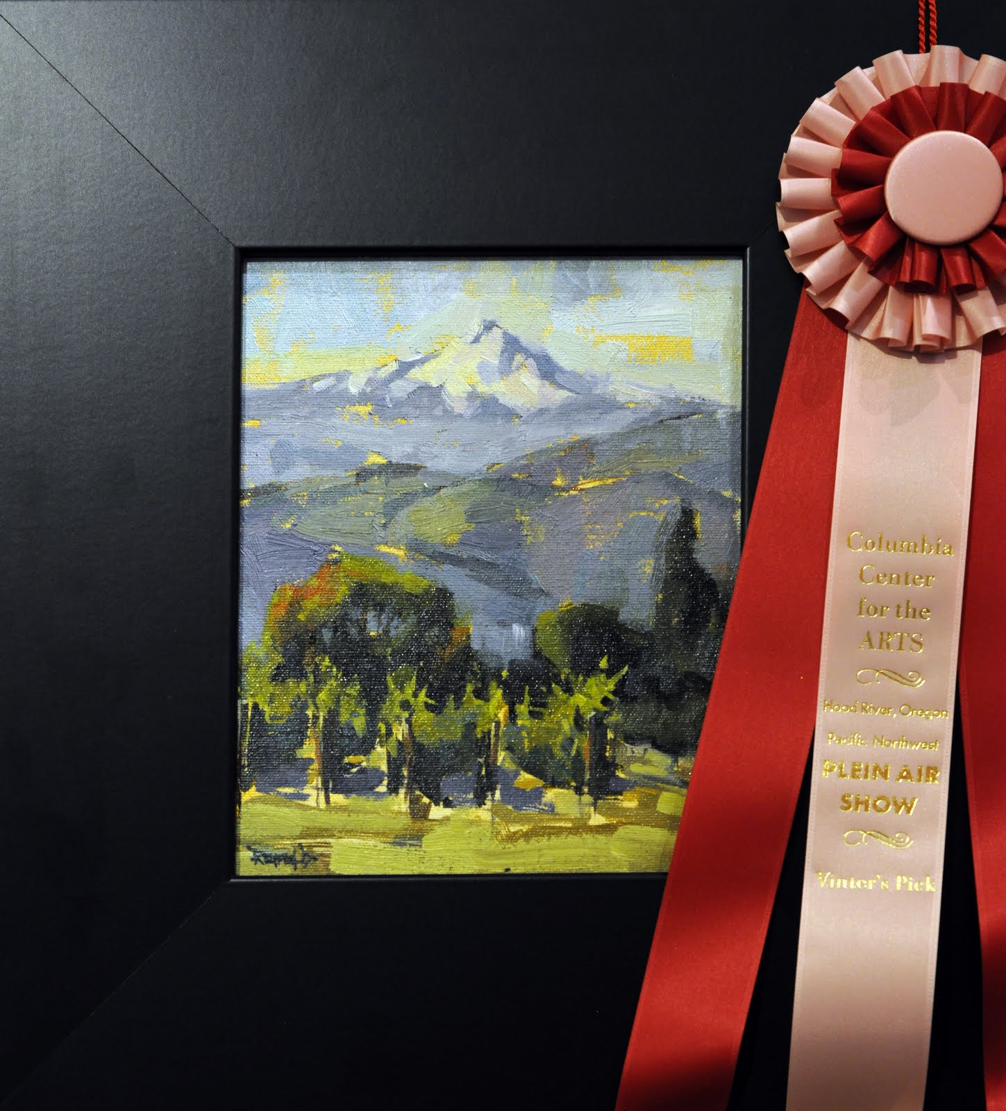"""""""Awards at the PNW Plein Air 2011 Competition in Hood River, OR"""" original fine art by Cathleen Rehfeld"""