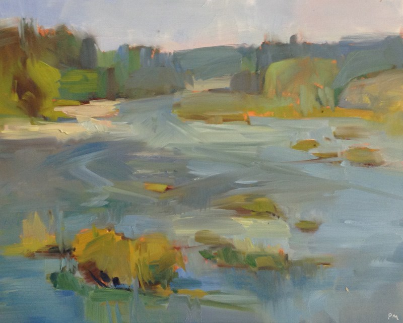 """""""Umpqua River Morning"""" original fine art by Patti McNutt"""