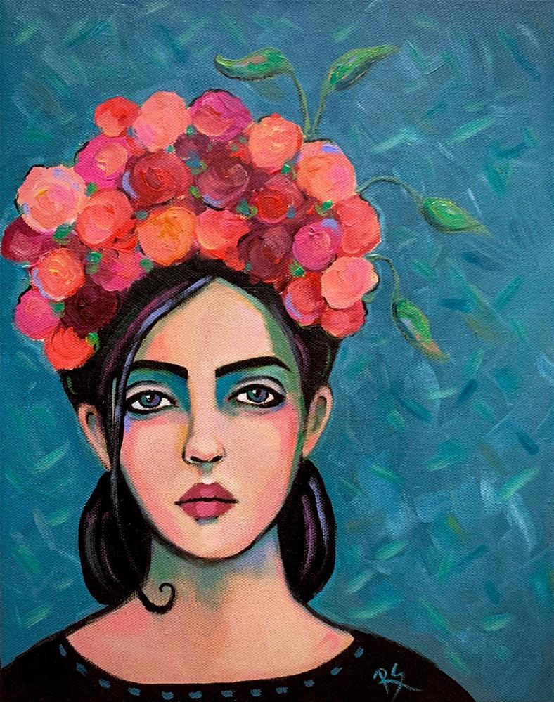 """""""Her Crown of Roses"""" original fine art by Roberta Schmidt ArtcyLucy"""