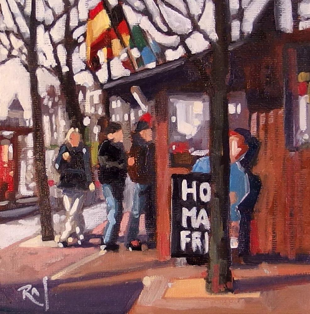 """No 730 Fry Stand"" original fine art by Robin J Mitchell"
