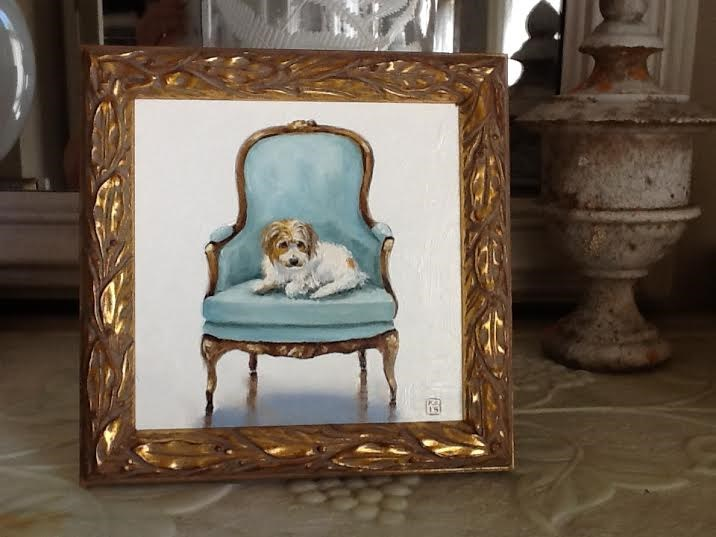 """""""My blog is goin' to the dogs!"""" original fine art by Kimberly Applegate"""