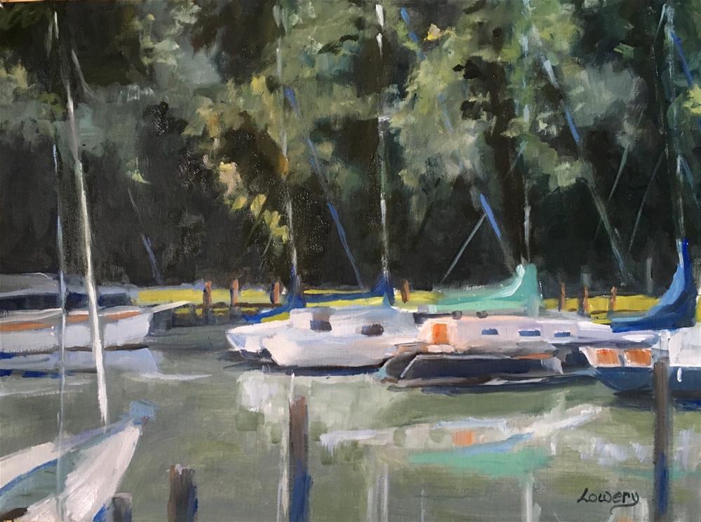 """Marina"" original fine art by Wanda Lowery"