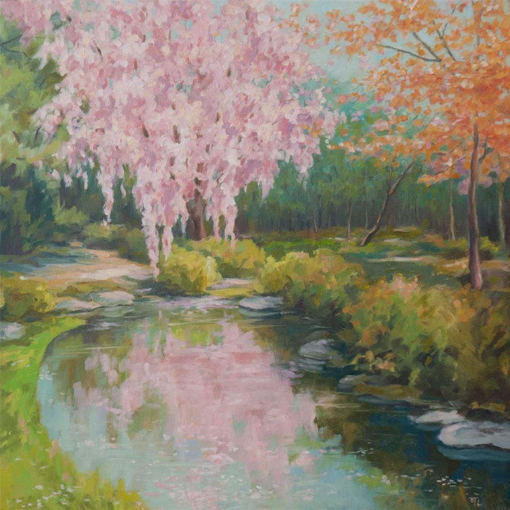 """Breath of spring"" original fine art by Olga Touboltseva-Lefort"