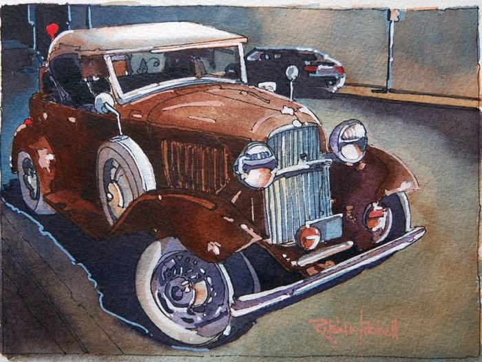 """No 596 Curb Appeal"" original fine art by Robin J Mitchell"