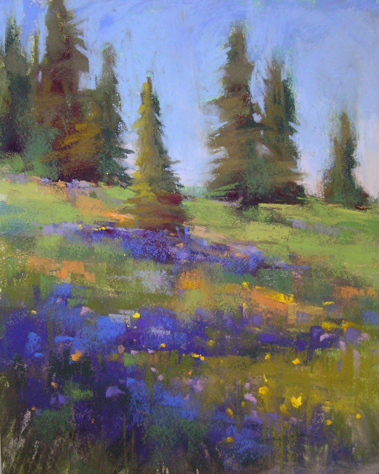 """Colorado Wildflowers"" original fine art by Karen Margulis"