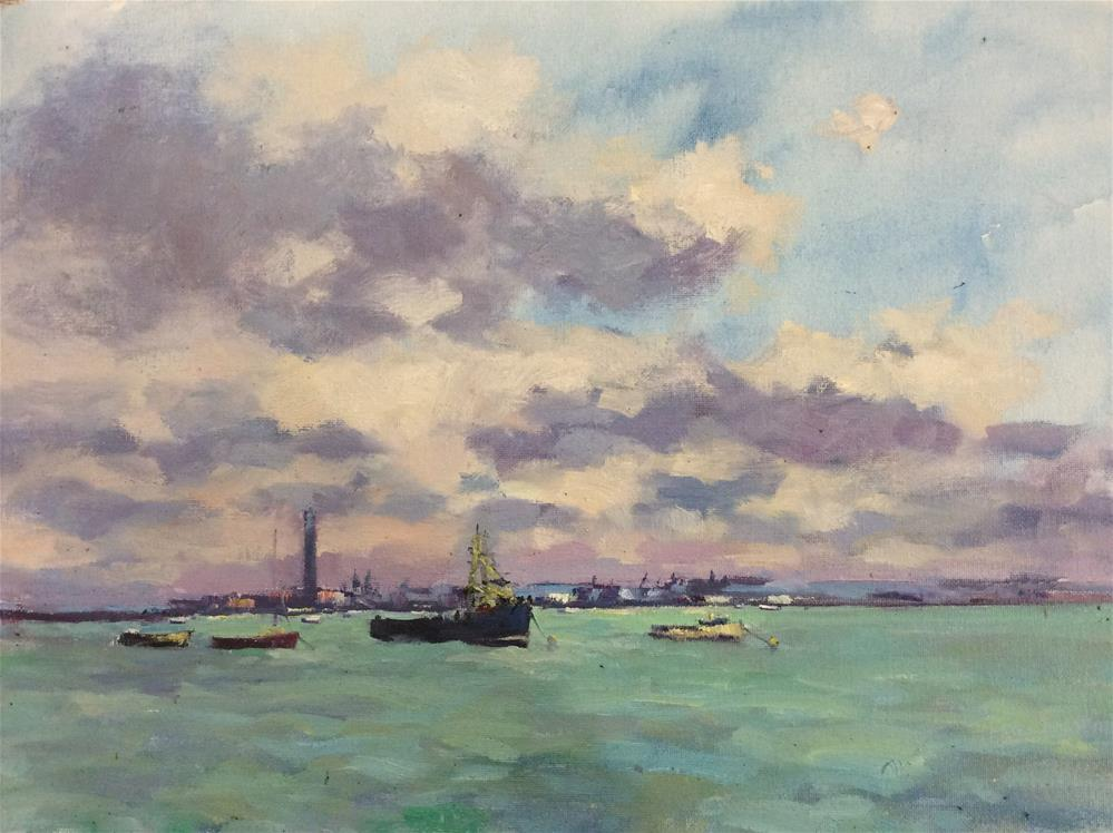 """The Thames at Leigh"" original fine art by John Shave"