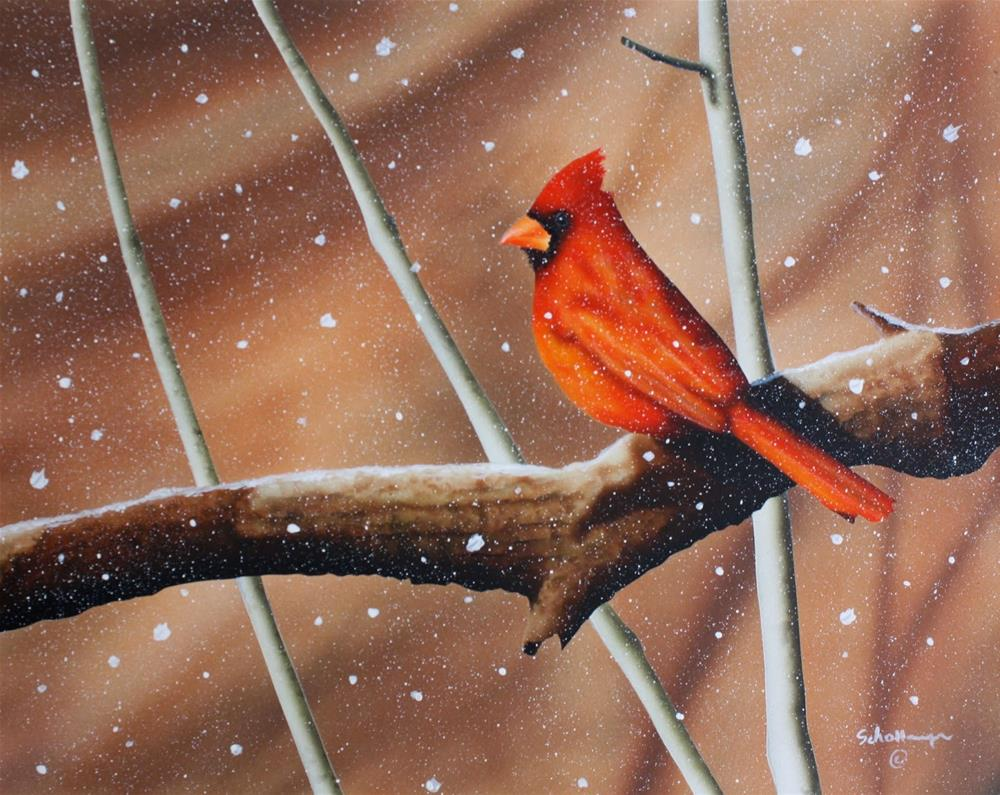 """Waiting Out the Blizzard"" original fine art by Fred Schollmeyer"
