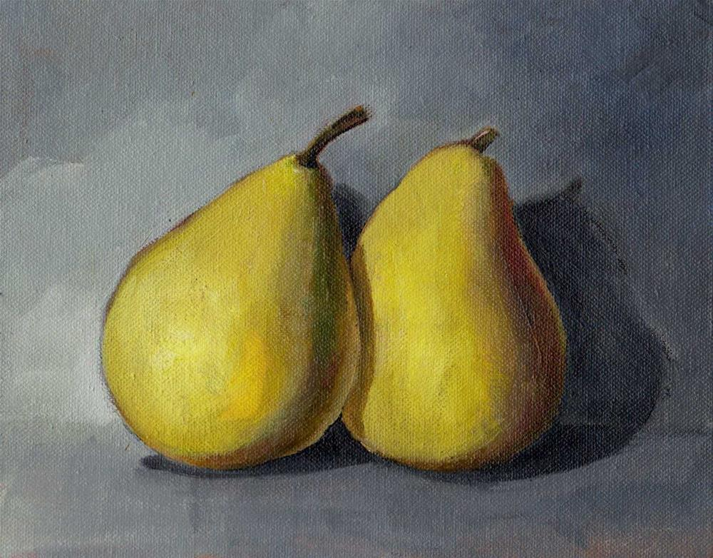 """pears"" original fine art by Mark DeBak"