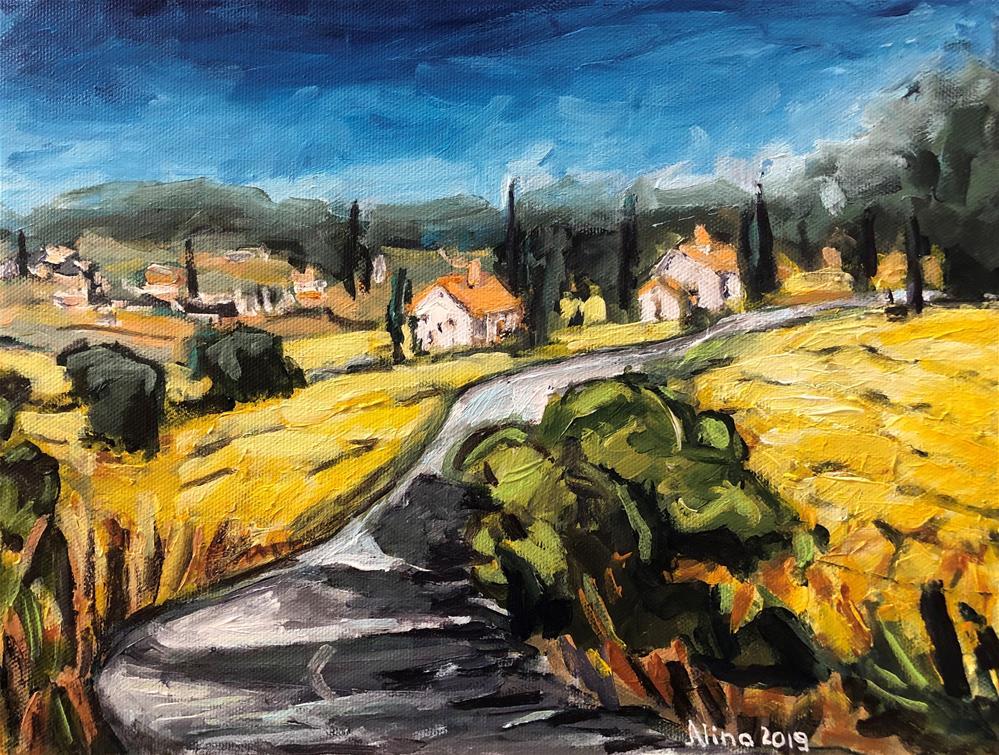 """""""Tuscany"""" original fine art by Alina Vidulescu"""