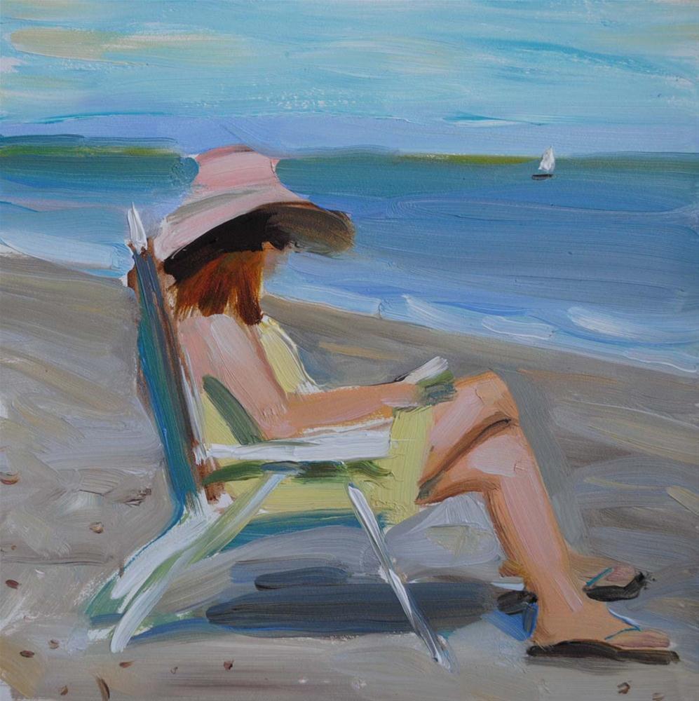 """Summer Holidays. Tybee Island."" original fine art by Elena Katsyura"