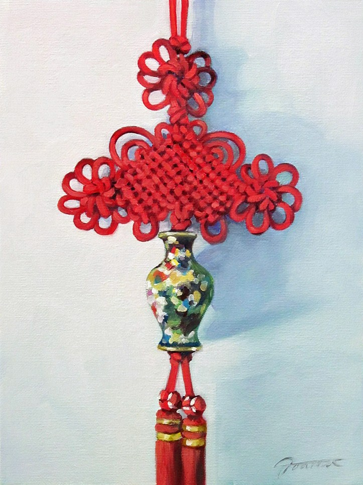 """Love Knot"" original fine art by Joanna Bingham"