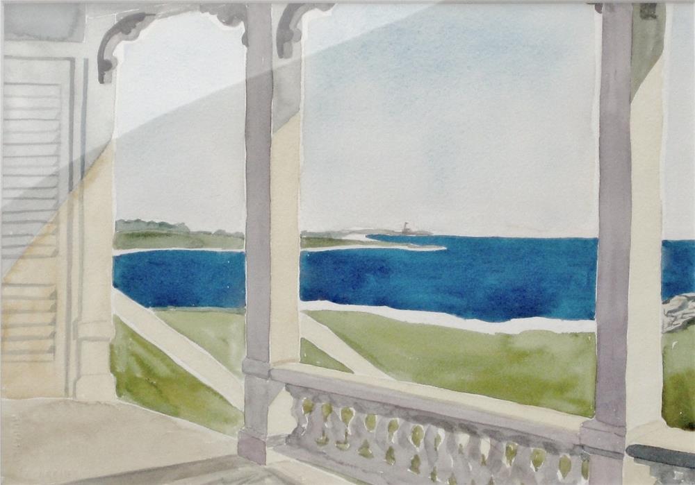 """Lighthouse View"" original fine art by Priscilla Bohlen"