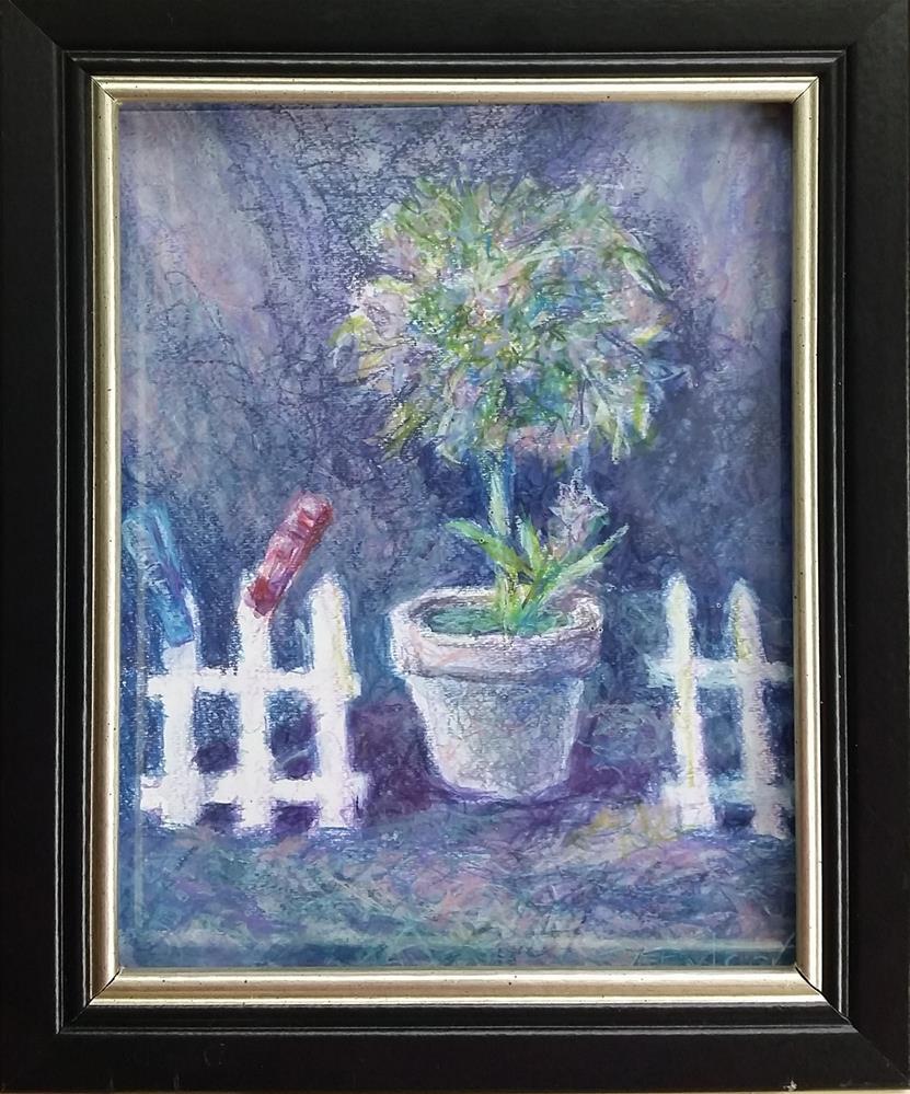 """Still Life With The Fence"" original fine art by Gabriella DeLamater"