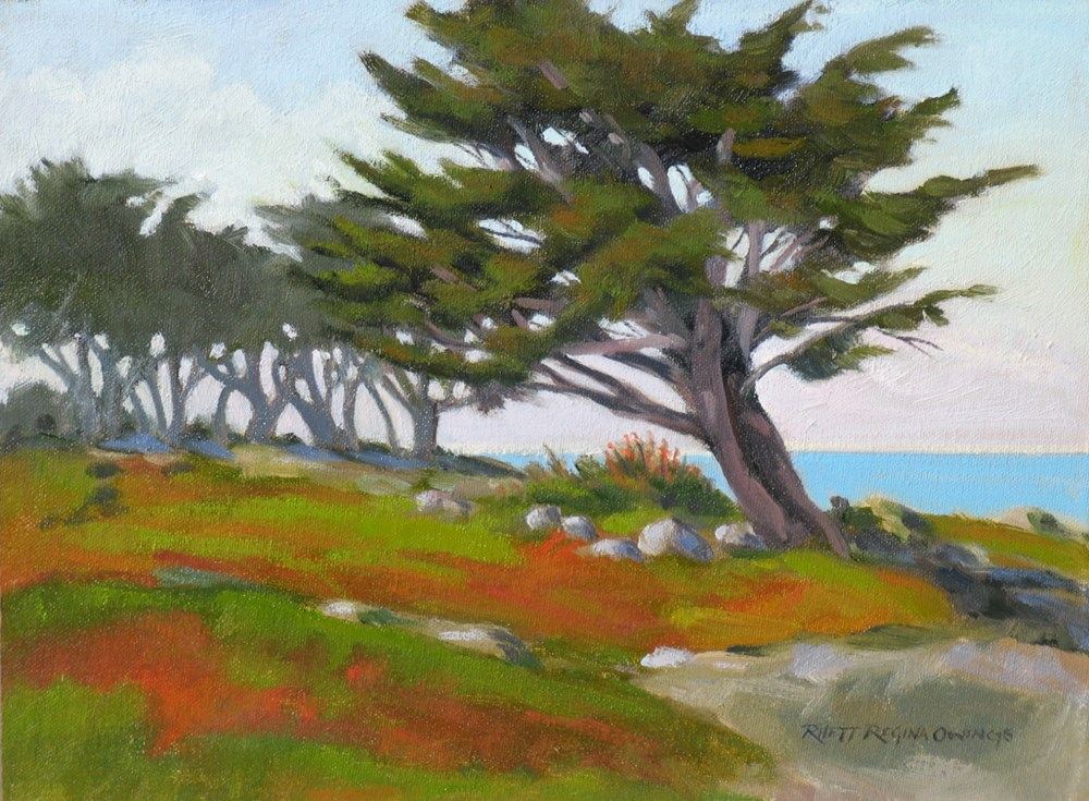 """Wind Swept Cypress"" original fine art by Rhett Regina Owings"