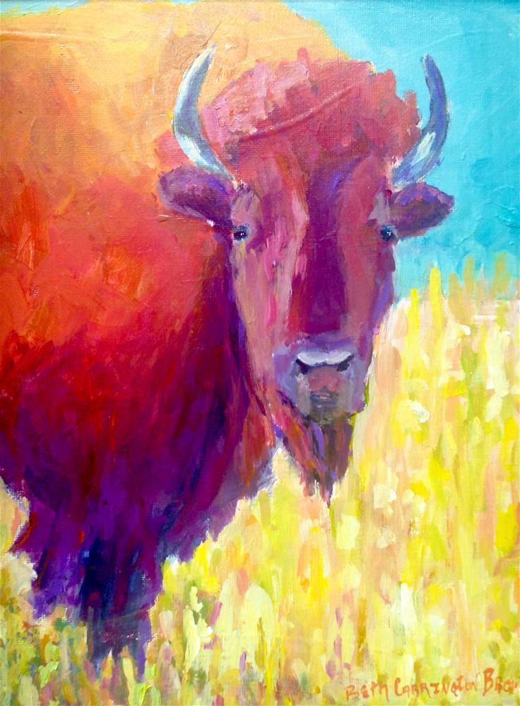 """Buffalo Gal"" original fine art by Beth Carrington Brown"