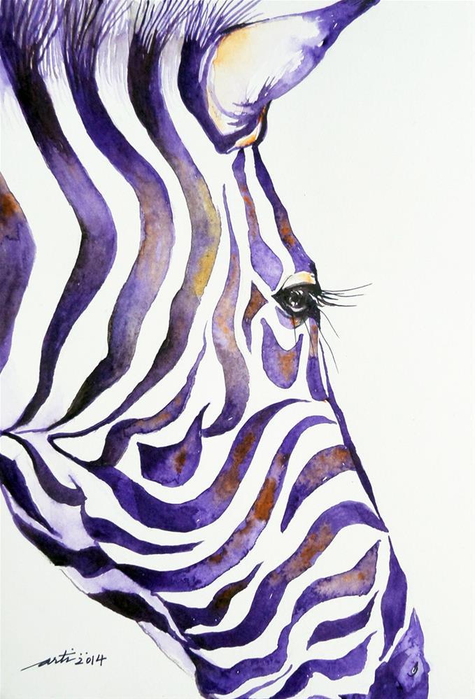 """Purple Stripes I"" original fine art by Arti Chauhan"
