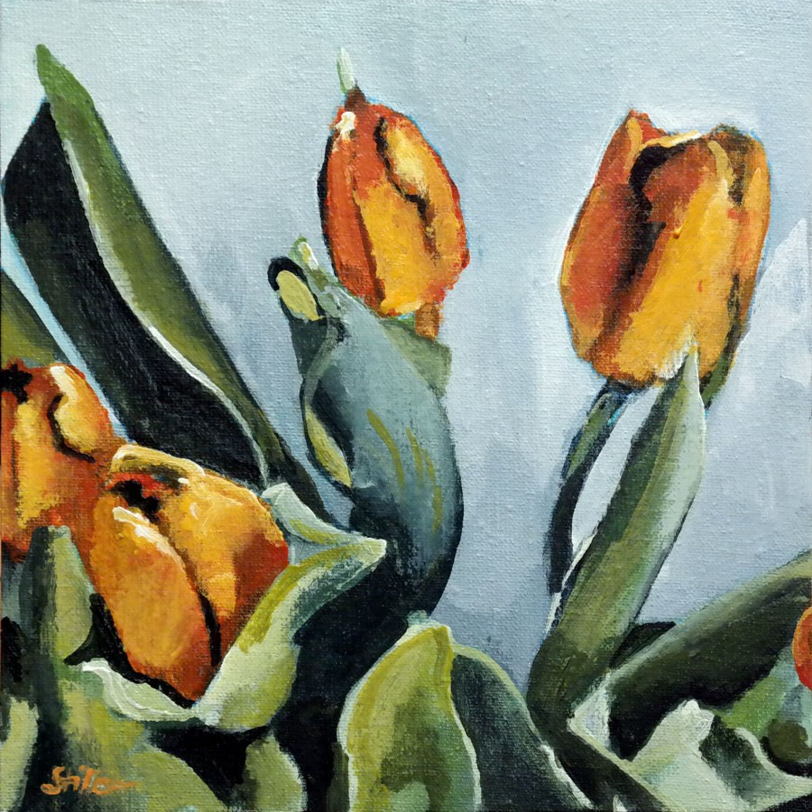 """2352 Tulip Encounter"" original fine art by Dietmar Stiller"